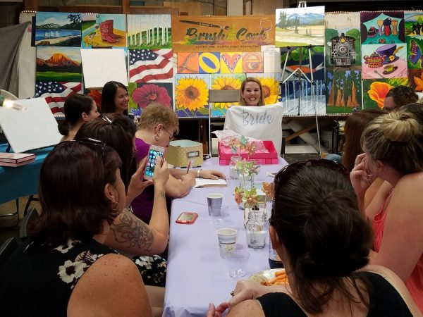 Private painting parties brush cork for Private paint party