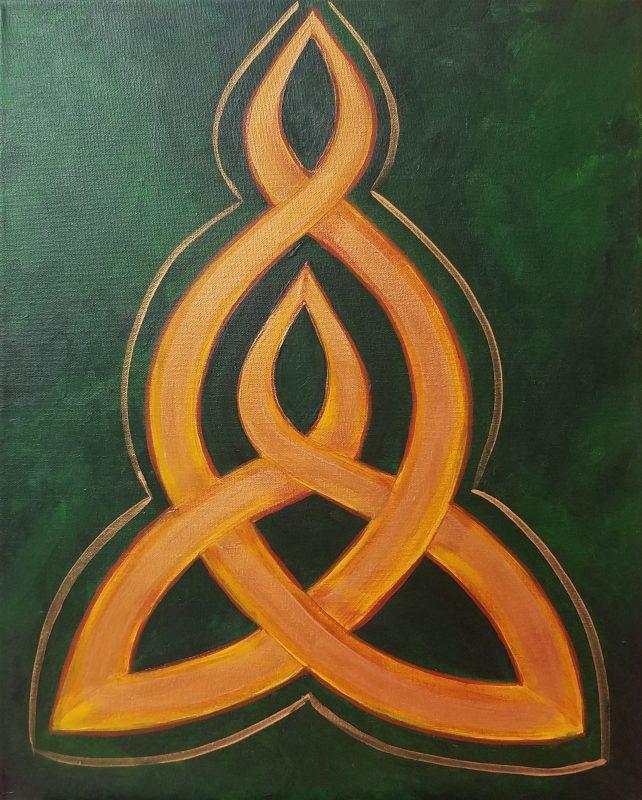 Celtic Knot Mimosa Sunday Brunch Brush Cork